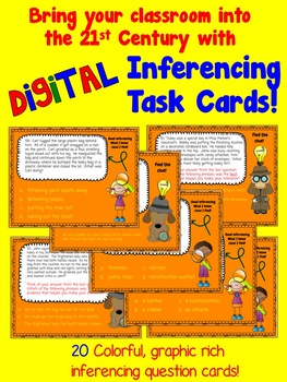 Making Inferences/Drawing Conclusions DIGITAL Task Card Set