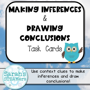 Reading Task Cards (Second Grade): Making Inferences & Drawing Conclusions
