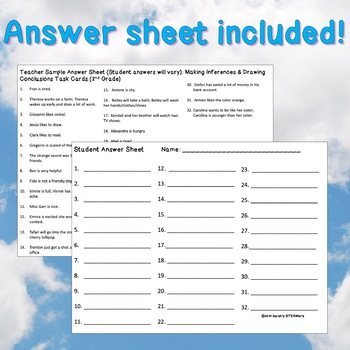 Drawing Conclusions Worksheets for Grade 1 | Homeshealth.info
