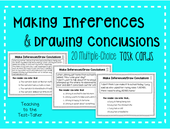 Making Inferences/Drawing Conclusions Task Cards