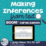 Making Inferences From Text BOOM Cards   Distance Learning