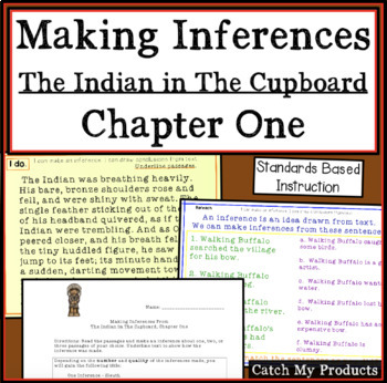 The Indian in the Cupboard Novel Study on Making Inference PROMETHEAN Board