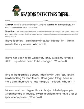 Making Inferences- Fun and Engaging Teaching Packet
