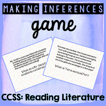 Making Inferences Game - Upper Elementary