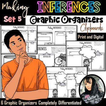 Making Inferences Graphic Organizers - SET 5