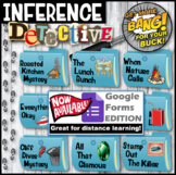 Making Inferences: Inference Detective (Blue Mystery Bundle #1) Google Forms