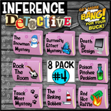 End of Year Activity Making Inferences:Detective (Purple Mystery Bundle #4)