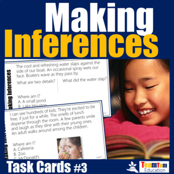 Making Inferences - Inferencing Task Cards #3