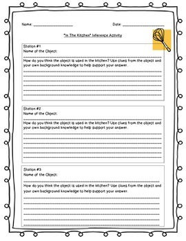 Inference Lesson Activity with Rubric