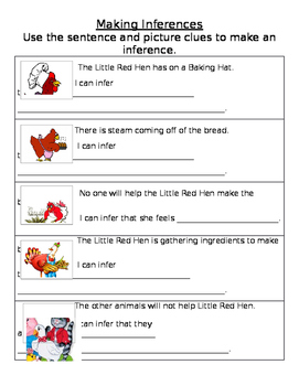 Making Inferences- Little Red Hen