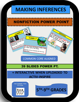 Making Inferences Nonfiction Power Point  Activity CC