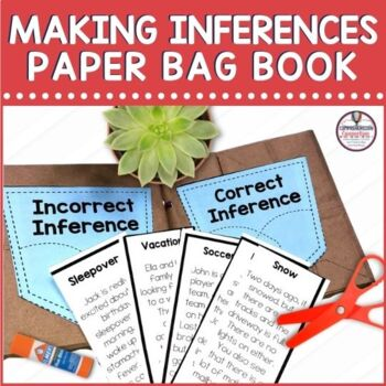 Making Inferences Paper Bag Book  Distance Learning