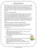 Making Inferences Parent Information Sheet
