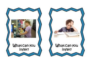 Making Inferences Photo Task Cards - School Themed