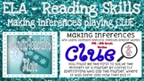 Making Inferences Playing Clue - Printable Classroom Version 4th - 6th grade