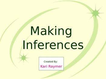 Making Inferences PowerPoint Lesson