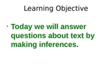 Making Inferences Powerpoint - R 2.2