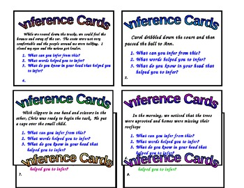 Making Inferences Practice Cards
