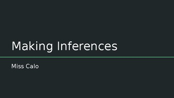 Making Inferences Practice Questions (PowerPoint)