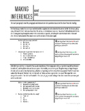 Making Inferences Practice Worksheets