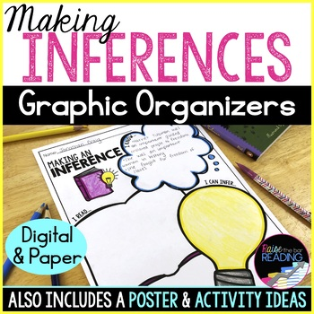 Making Inferences Graphic Organizers, Reading Strategy Poster & Activity Ideas