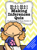 RL4.1, RI4.1, RL5.1, RI5.1 Making Inferences Quiz Common Core TNReady Aligned