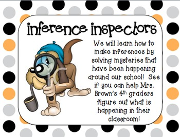 Making Inferences (RI.4.1) Powerpoint and Printable