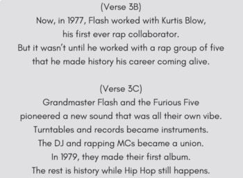Making Inferences Nonfiction Reading Activity for History of Hip Hop Rap Song #1