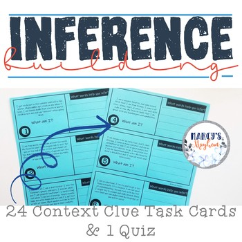 Making Inferences Reading Passages & Task Cards Activities Bundle