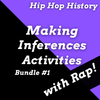 Making Inferences Reading Passages Questions, Hip Hop & Rap Music History Bundle