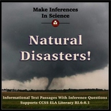 Nonfiction Reading Passages and Inference Questions About Natural Disasters