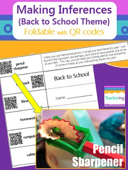 Making Inferences Foldable with QR Codes {Back to School Themed}