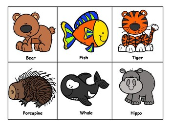Making Inferences Sort and partner activity (animal themed)