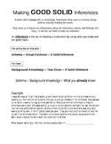 Making Inferences- Strategies #3 Worksheet