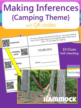 Making Inferences Study Guide with QR Codes {Camping Themed}