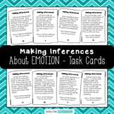 Making Inferences Task Cards - Thinking about Emotions