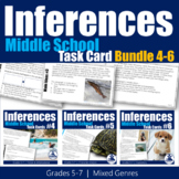 Making Inferences Task Cards Bundle (Grades 5-7)