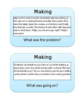 Making Inferences Task Cards