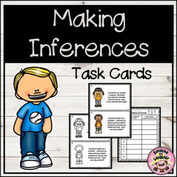 Making Inferences - Task Cards
