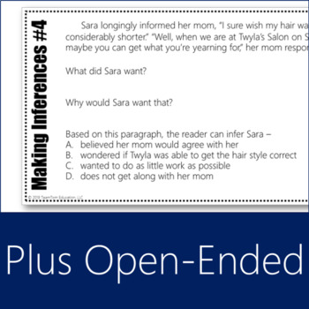 Making Inferences Task Cards 4 (Differentiated)