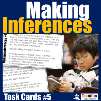 Making Inferences Task Cards #5 - Character Analysis