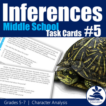 Making Inferences Task Cards 5 Character Analysis (Grades 5-7)