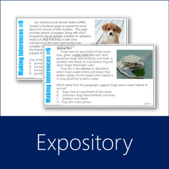 Making Inferences Task Cards 6 Expository (Grades 5-7)