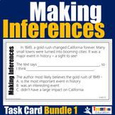 Making Inferences Task Cards Bundle #1