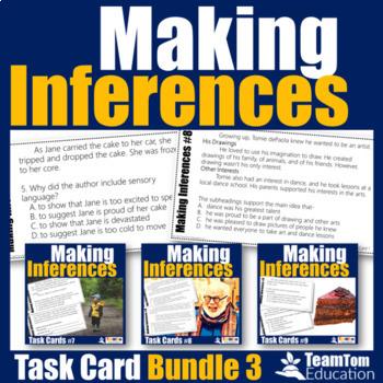 Making Inferences Task Cards Bundle 3