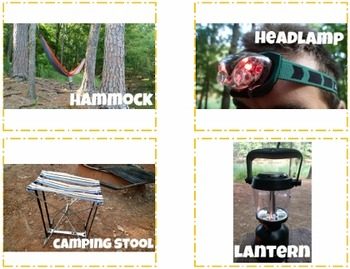Making Inferences Task Cards {Camping Theme} Picture Match & SCOOT Style Game