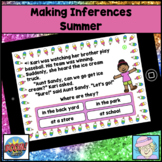 Making Inferences Task Cards Digital Boom Cards First Second Grade