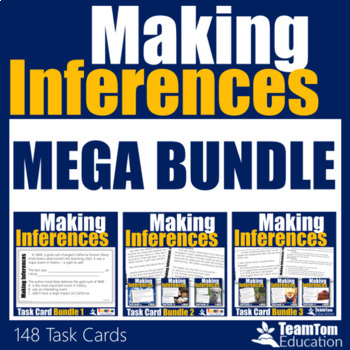 Making Inferences Task Cards Mega Bundle (Grades 3-5)