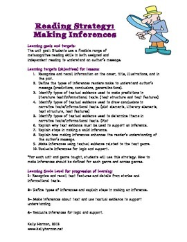 Making Inferences Teaching Packet