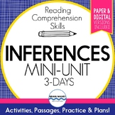 Inferencing - Making Inferences Passages, Activities, Work